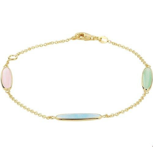 Huiscollectie Gouden armband met kleurstenen 4020741