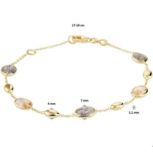 Huiscollectie Gouden Armband met Kleurstenen 4021005
