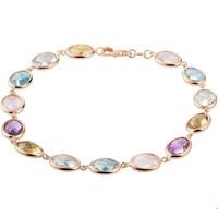 Gouden Armband Met Kleurstenen