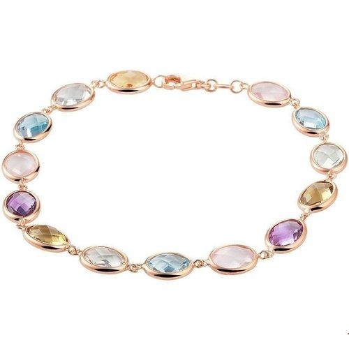 Huiscollectie vDam Gouden Armband met Kleurstenen 4401076