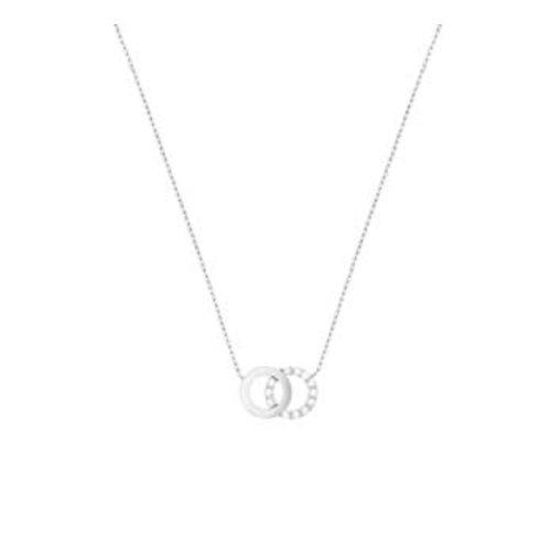 Huiscollectie Witgouden collier rondjes met zirconia 4105391