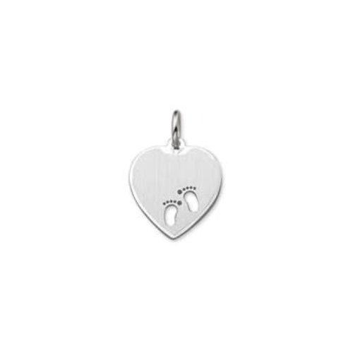 Huiscollectie zilveren hanger hart 1323360