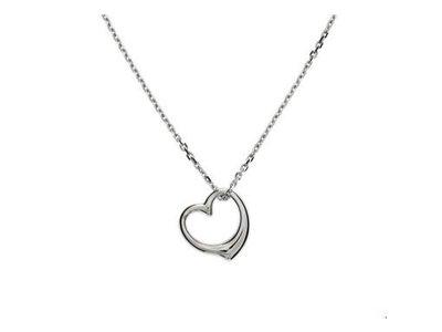 Huiscollectie vDam zilveren ketting open hart 1322788