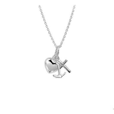 Huiscollectie vDam zilveren ketting geloof,hoop en liefde 1323193