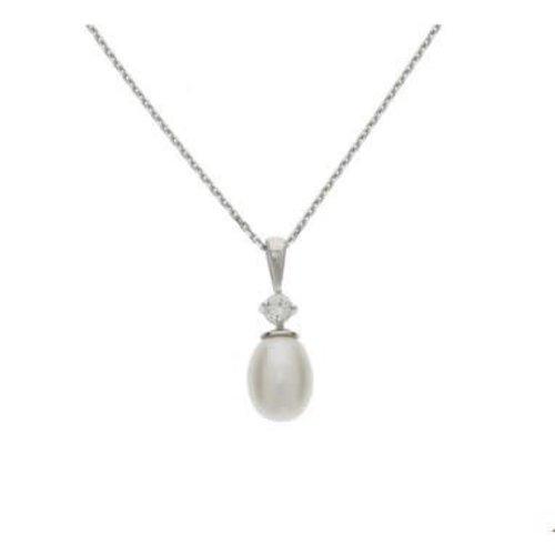 Huiscollectie vDam zilveren ketting parel 1323197