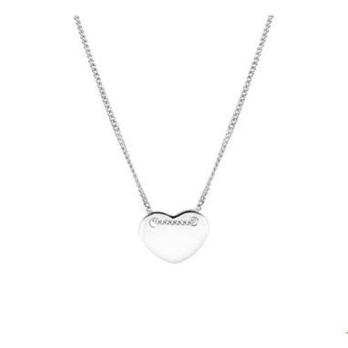 Huiscollectie vDam zilveren ketting hart 1324638