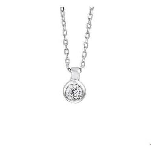 Huiscollectie vDam zilveren ketting met steen 1323208