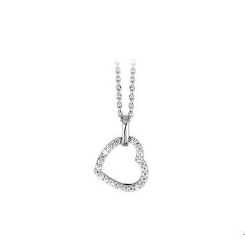 Huiscollectie vDam zilveren ketting hart 1323210