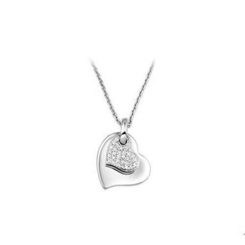 Huiscollectie vDam zilveren ketting hart 1323217