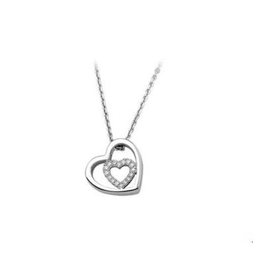 Huiscollectie vDam zilveren ketting hart 1323218