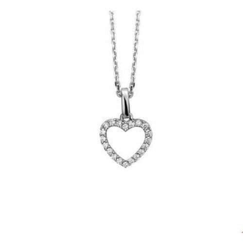 Huiscollectie vDam Zilveren ketting  hart 1323220