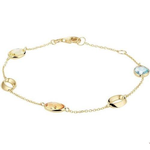Huiscollectie Gouden armband met kleurstenen 4020659