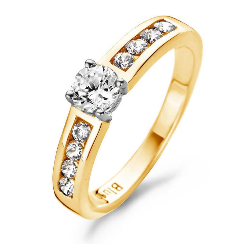 Blush Geelgouden Ring 1126BZI/54