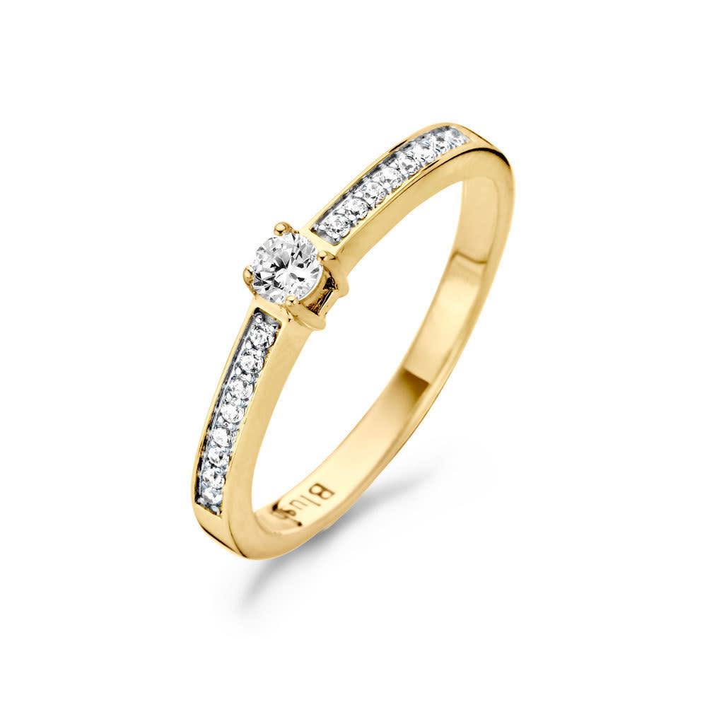 Blush Geelgouden Ring 1145BZI/54