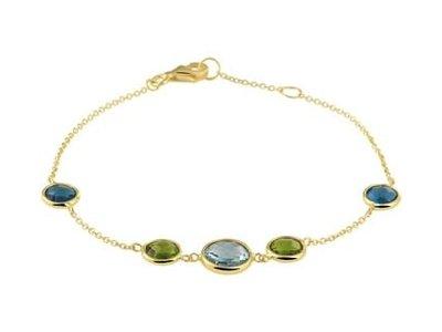 Huiscollectie Gouden armband met kleurstenen 4020863