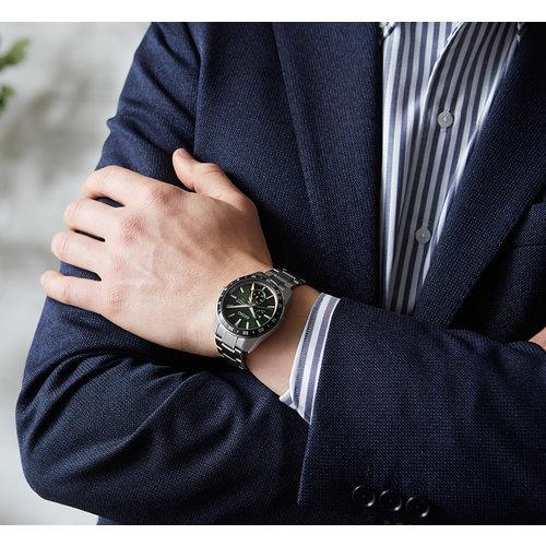 Seiko Global Brands Seiko Presage Sharp Edged GMT SPB219J1