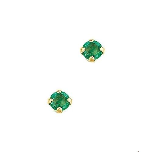 Huiscollectie Goude smaragd oorknoppen 4000969