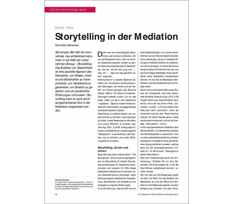 Storytelling in der Mediation