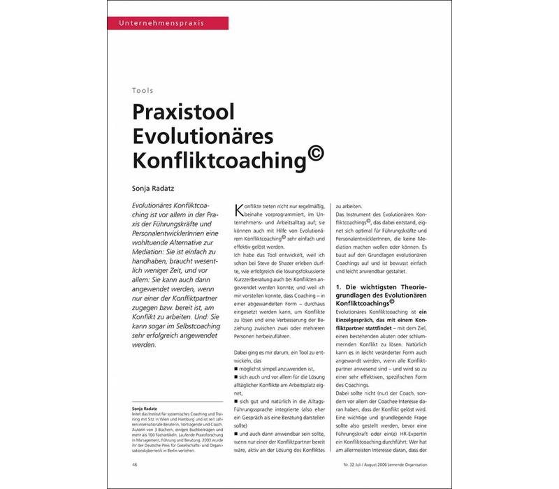 Praxistool Evolutionäres Konfliktcoaching©