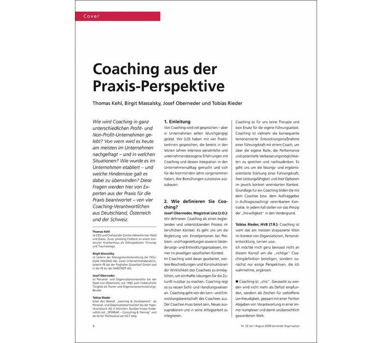 Coaching aus der Praxis-Perspektive