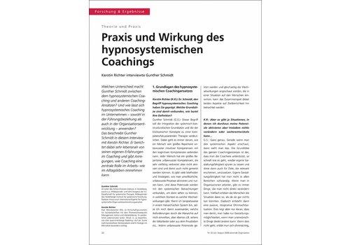 Praxis und Wirkung des hypnosystemischen Coachings