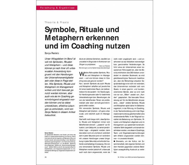 Symbole, Rituale und Metaphern erkennen und im Coaching nutzen