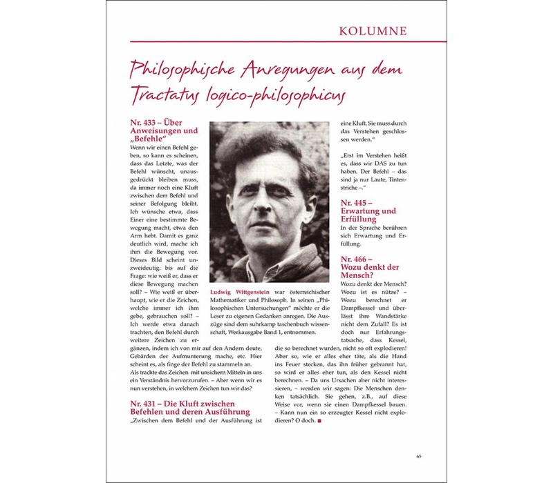 Philosophische Anregungen aus dem Tractatus logico-philosophicus