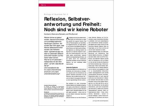 Reflexion, Selbstverantwortung und Freiheit: Noch sind wir keine Roboter