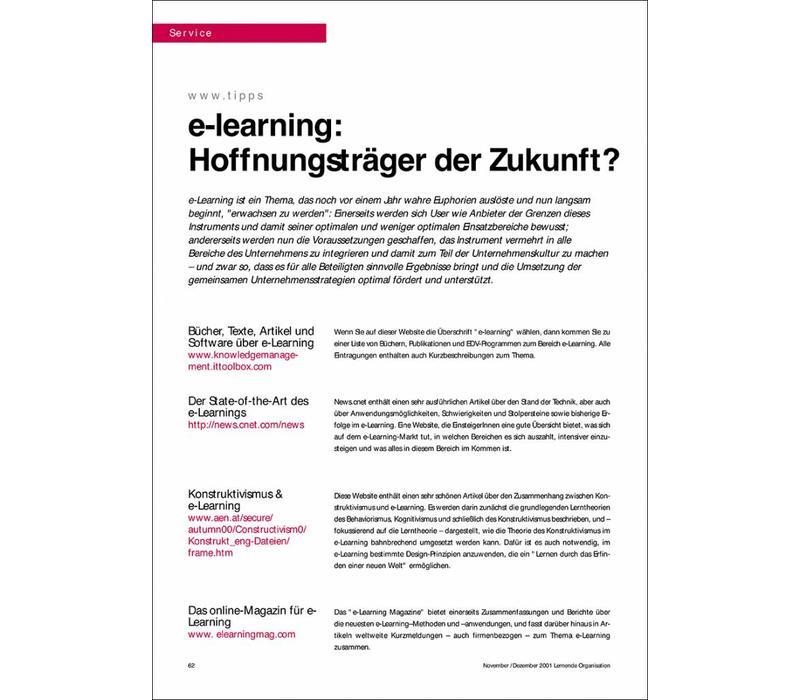 e-learning: Hoffnungsträger der Zukunft?