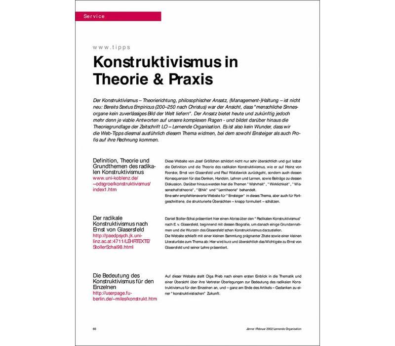 Konstruktivismus in Theorie & Praxis