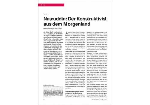 Nasruddin: Der Konstruktivist aus dem Morgenland