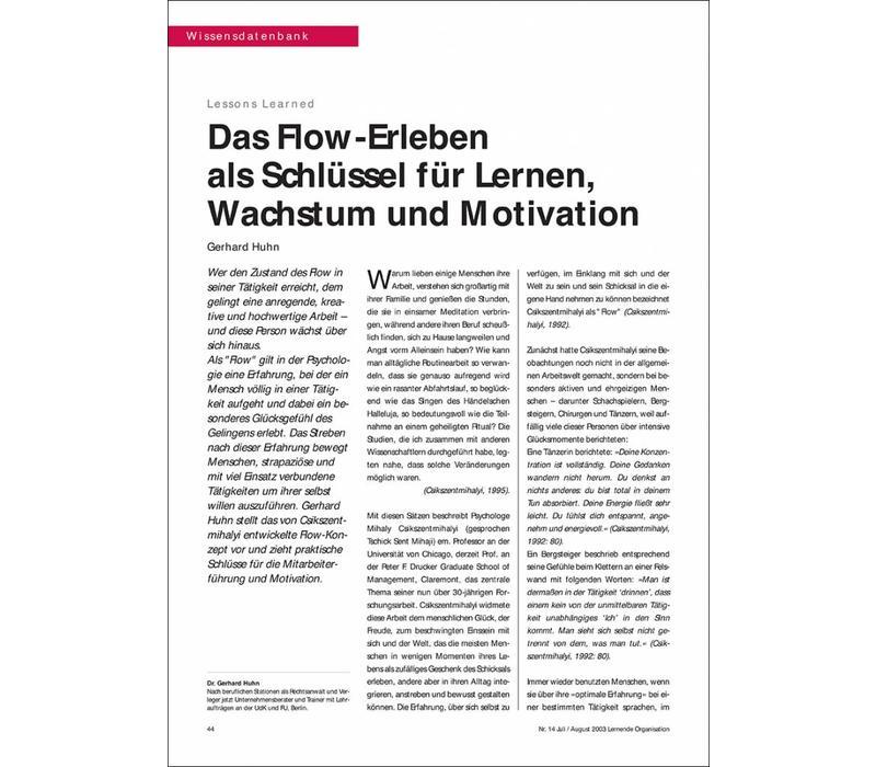 Das Flow-Erleben als Schlüssel für Lernen, Wachstum und Motivation