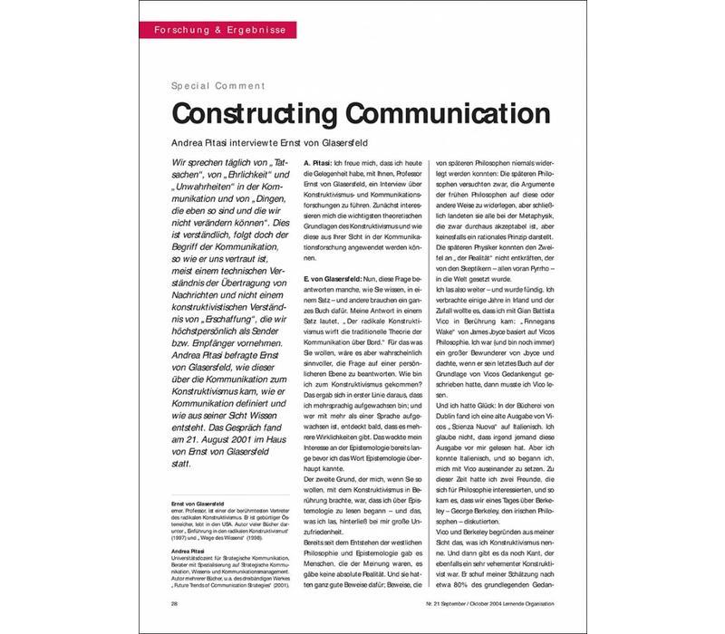 Constructing Communication