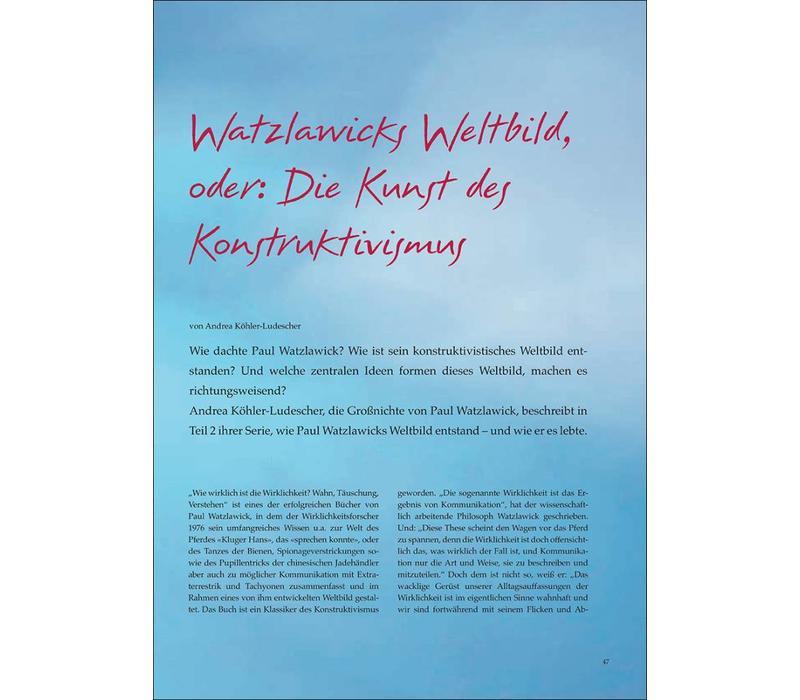 Watzlawicks Weltbild, oder: Die Kunst des Konstruktivismus