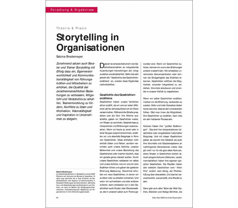 Storytelling in Organisationen