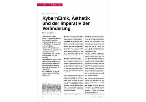 KybernEthik, Ästhetik und der Imperativ der Veränderung