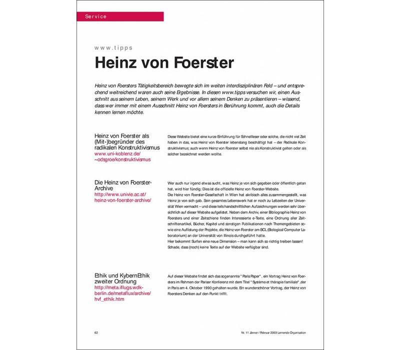 www.tipps: Heinz von Foerster