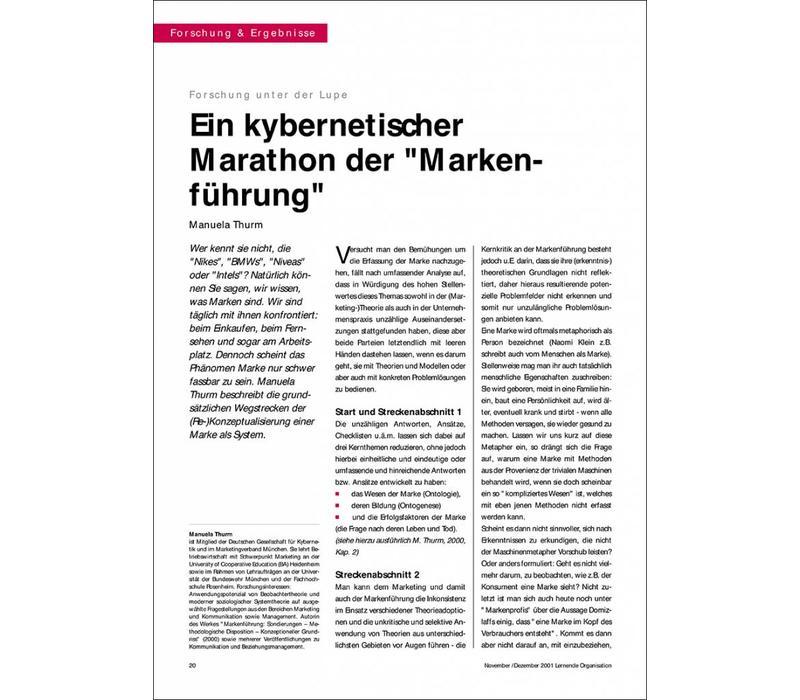 """Ein kybernetischer Marathon der """"Markenführung"""""""