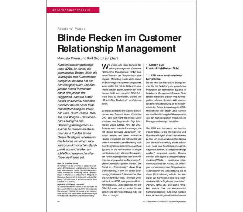 Blinde Flecken im Customer Relationship Management