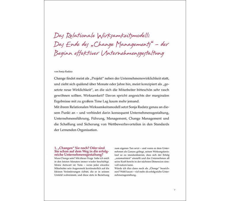 """Das Relationale Wirksamkeitsmodell: Das Ende des """"Change Managements"""" – der Beginn effektiver Unternehmensgestaltung"""