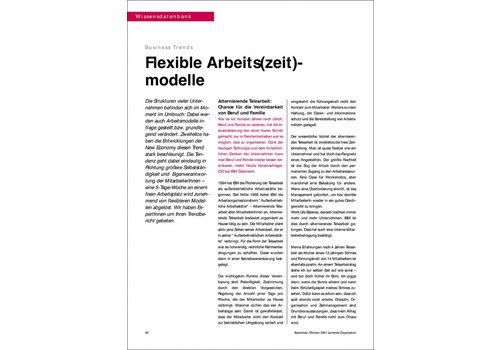 Flexible Arbeits(zeit)- modelle