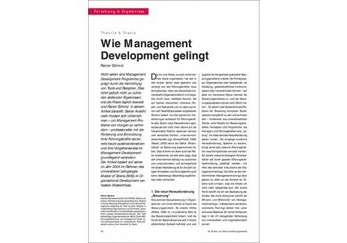 Wie Management Development gelingt