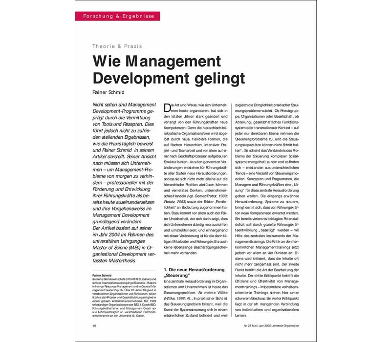 Wie Management Development gelingt