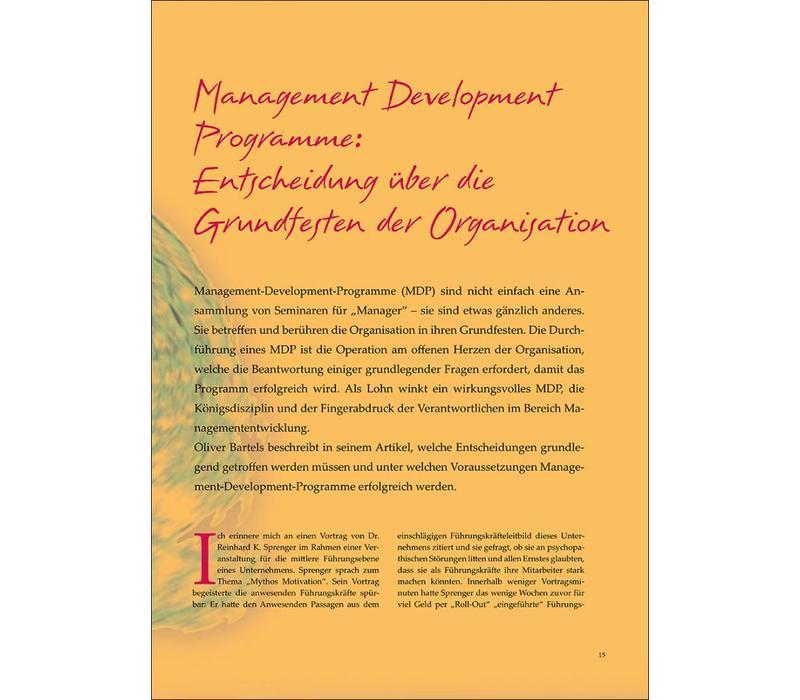 Management Development Programme: Entscheidung über die Grundfesten der Organisation