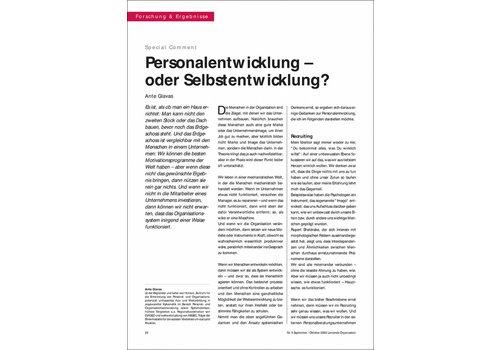 Personalentwicklung – oder Selbstentwicklung?