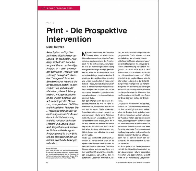 PrInt - Die Prospektive Intervention