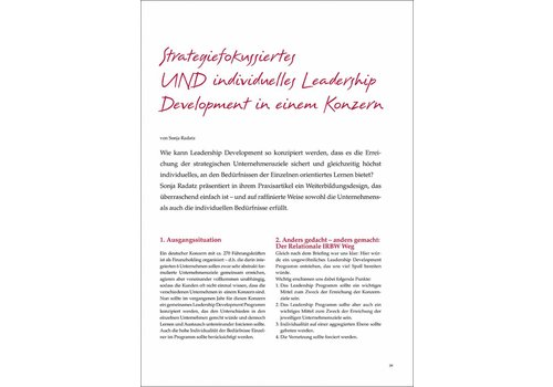 Strategiefokussiertes UND individuelles Leadership Development in einem Konzern