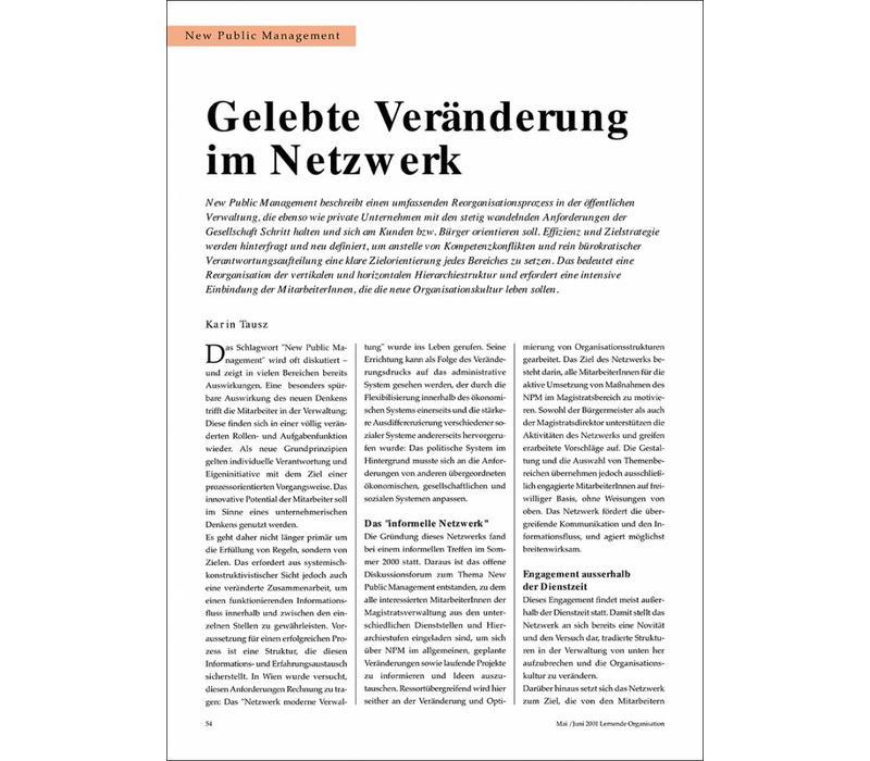 Gelebte Veränderung im Netzwerk