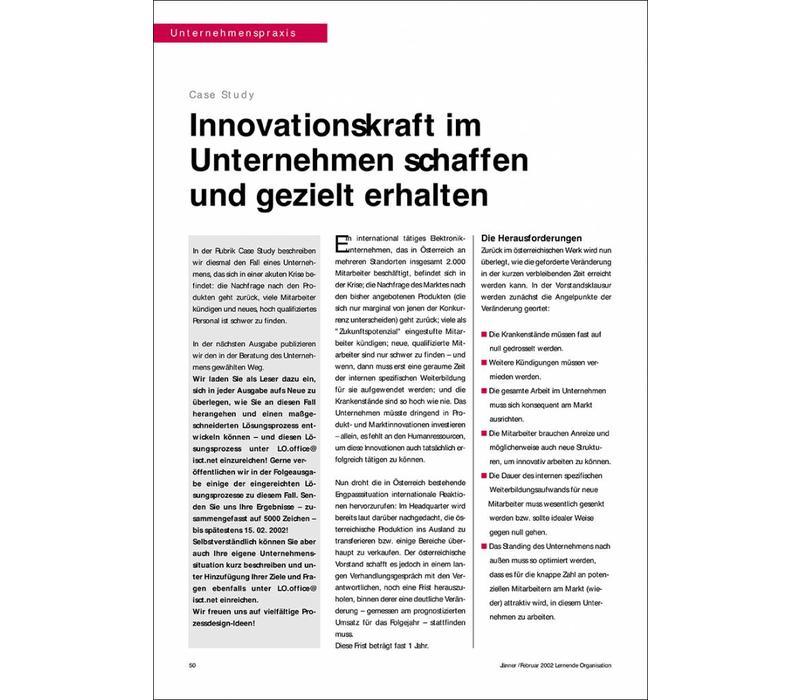 Innovationskraft im Unternehmen schaffen und gezielt erhalten