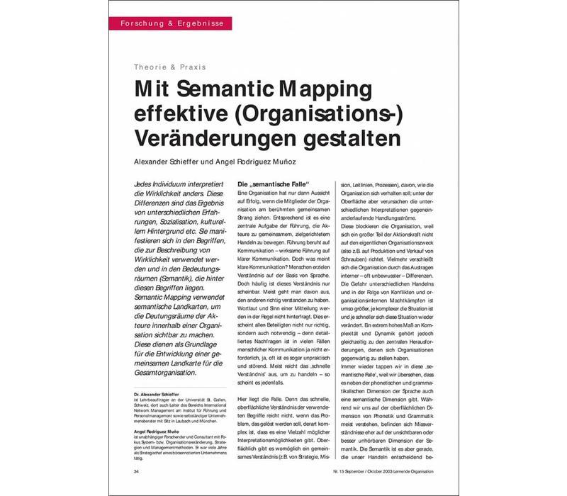 Mit Semantic Mapping effektive (Organisations-) Veränderungen gestalten